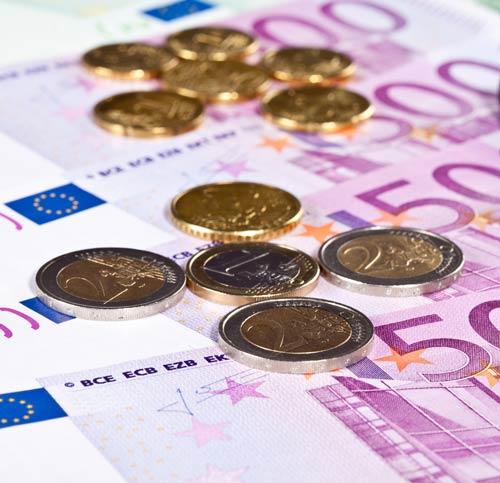Euro sedlar och mynt